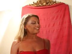 Miltf 16-she masturbutes and toying her pussy and suck a black dick.