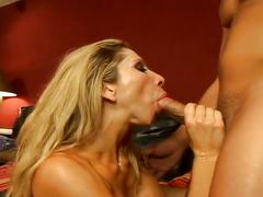 Horny milf drilled by a hard young cock