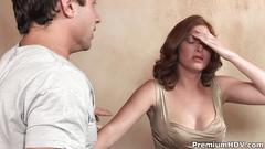 Ginger lea gets penetrated and cum covered