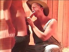 Young twinky cowboys fucking as they enjoy lust in the hay