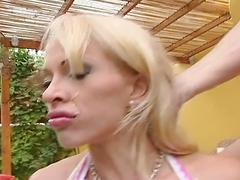 Blonde cony ferrara hardcore fucking in threesome