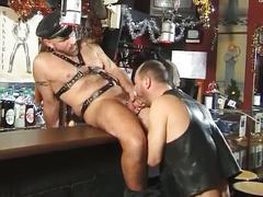 anal, bdsm & fetish, blowjobs, dads & mature, hardcore, porn stars, assfucking, bondage, dad, deepthroat, face fucking, gagging, leather, mature, older man, sloppy blowjob