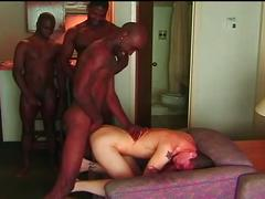 Interracial super fervent hardcore anal stretching nasty orgy fun