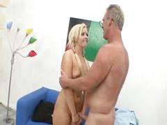 Emma heart is fucked in her ass by an old man