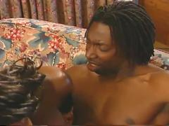 Hot busty ebony rides cock in hardcore fucking