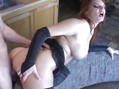 Busty redhead gets hardcore fucked
