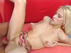 Blonde babe gets premier pussy attack