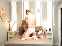 Fervent bareback auditions with hot anal stuffing dong eating studs