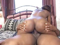 Black bubble butts 2-drilled hard on bed !!