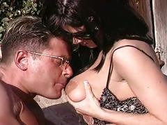 anal, big ass, big tits, brunette, hardcore, outdoor, assfucking, backyard, big boobs, black hair, cowgirl, nice ass, piledriver