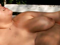 Lesbian heavy hitters 2-blonde fat babe fingering to another slut.