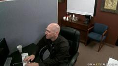 milf, brunette, hardcore, big dicks, office, stockings