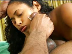 Horny ebony cock fucking a equally horny pussy