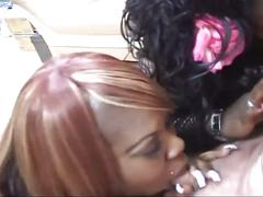 Phat cocksuckers 2-two ebony fat babe suck only one lucky cock.