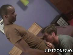 Horny black thug fucks craving dilf