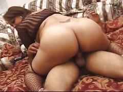 Pregnant ebony milf gets pussy drilled