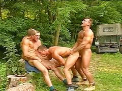 anal, gangbang, hardcore, hunks, porn stars, 3 on 1, assfucking, muscle man, stud