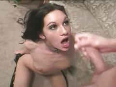 Extreme hardcore sex with a brunette babe and hard dick in this tube.