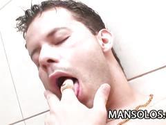 Latino stud teases his hard cock