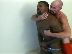 Interracial gay daddies hardcore bareback fucking fun time