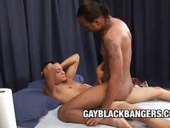 Intense black on black fucking scene