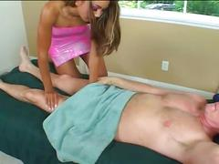 Hot young asian chick takes massage to whole another cunt