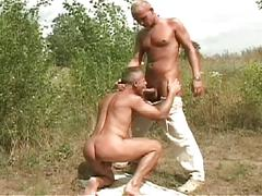 Nasty cum filling gay studs sharing intimate outdoor mouth fucking