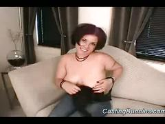 Busty bunny gets fucked hard at casting session