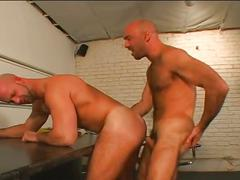 Horny gay bears sizzling hot cum hungry mouth and ass assault