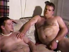 Hot chubby gay dudes in a hot threesome
