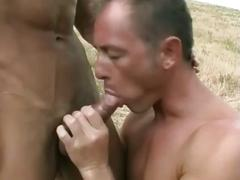 Italian gays hot outdoor love-making scene