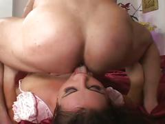 babe, big dick, hardcore, stockings, threesome, 3some, anal sex, assfucking, beauty, big cock, black hair, chick, doggy style, fishnets, glamour, missionary, mmf, rough fuck