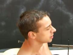 Horny dudes sucking big hard cocks and then barebacking hot ass