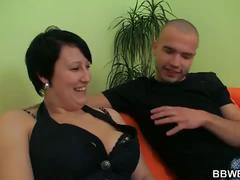 Bbw milf big tits blowjob fucked hardcore video