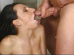 Huge furious boners gang fucking hot brunette slut
