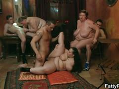 Fatty orgy blowjob fuck hardcore action movie