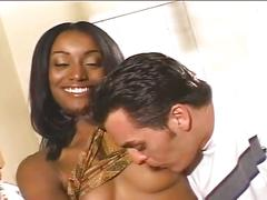 Hot ebony fucking for this slutty babe