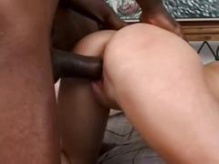 Busty blonde babe ripped by big black cock