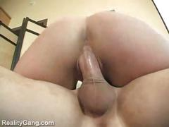 Hot blonde milf fucked in her shaved pussy