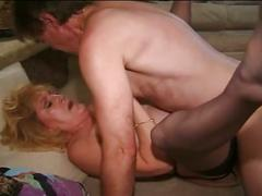 The granny always want to fuck with  young cock and she fucked hard