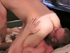 Big, muscular studs cock sucking and rimjobs