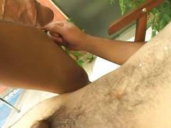 Enchanting amateur latino studs in spicy wet anal assault
