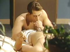 Sexy vintage big cock sucking and watching