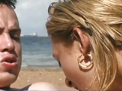 Blonde latina gets nailed on the beach