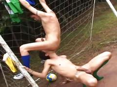 Soccer twinks rimming fingering and bareback fucking