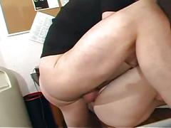 anal, brunette, hardcore, office sex, pussy, assfucking, boss, brown hair, missionary, piledriver, shaved pussy