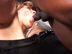 The sexy milf drilled in gang bang with hard face and ass fucked