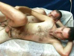 Fervent anal ramming with dong loving hairy amateur gay twinks
