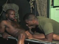 Sexy black studs cock sucking and ass fucking