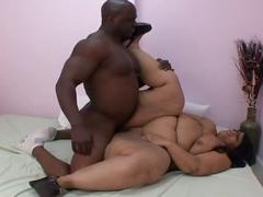 Big beautiful black bitch loves big black cock action